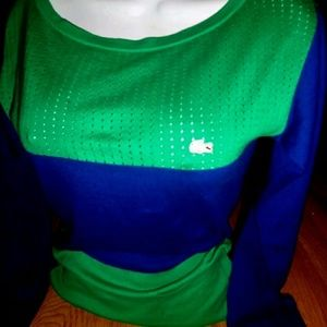 Lacoste ,Blue Green Top